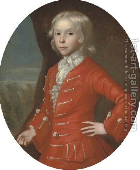 Portrait of a boy by (after) George, Of Chichester Smith - Reproduction Oil Painting