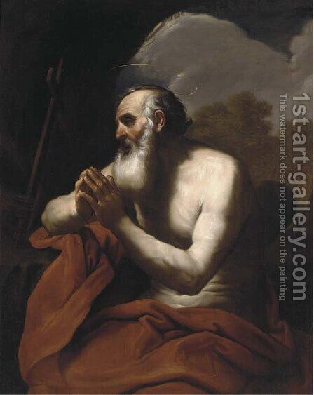 The Penitent Saint Jerome by (after) Giacinto Brandi - Reproduction Oil Painting