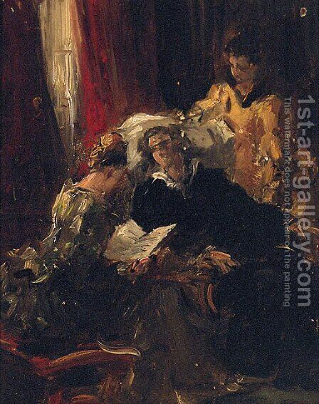 Le Convalescent by (after) Giovanni Boldini - Reproduction Oil Painting