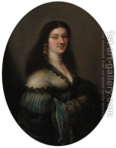 Portriat of a lady by (after) Girolamo Forabosco - Reproduction Oil Painting