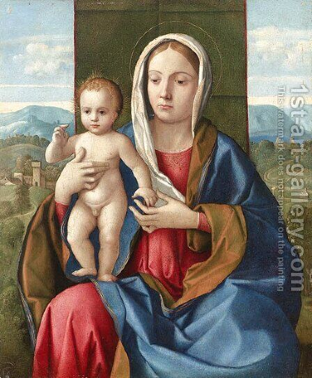 The Madonna and Child by (after) Girolamo Da Santacroce - Reproduction Oil Painting