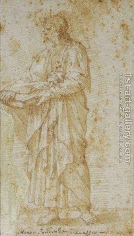 An evangelist by (after) Giulio Pippi, Called Giulio Romano - Reproduction Oil Painting