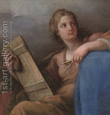 An allegory of Astronomy by (after) Giuseppe Chiari - Reproduction Oil Painting