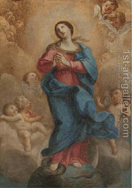 The Immaculate Conception by (after) Giuseppe Passeri - Reproduction Oil Painting