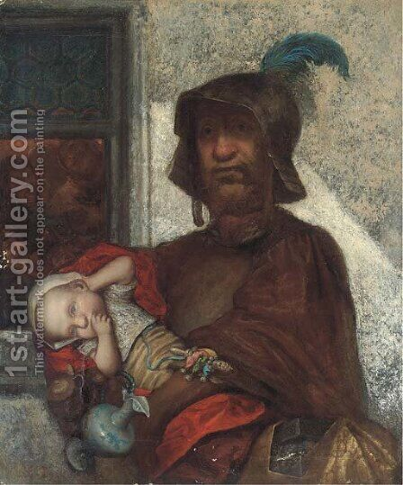 Left holding the baby by (after) Gustave Dore - Reproduction Oil Painting