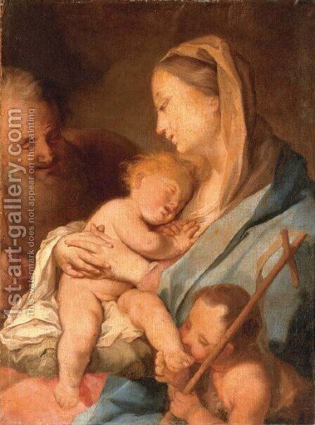 The Holy Family with the Infant Saint John the Baptist by (after) Ignazio Stella (see Stern Ignaz) - Reproduction Oil Painting