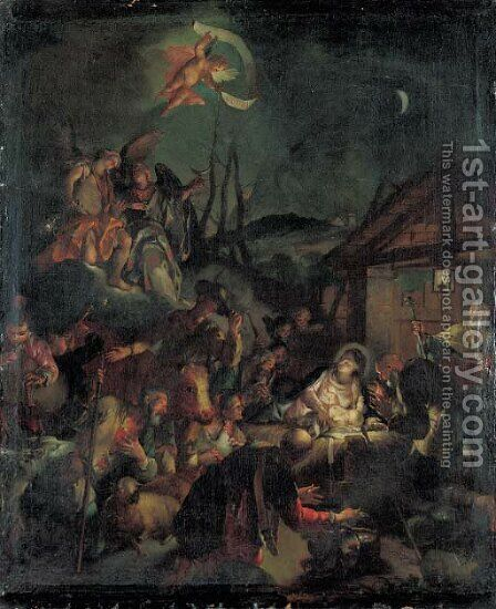 The Adoration of the Shepherds by (after) Ignazio Stella (see Stern Ignaz) - Reproduction Oil Painting