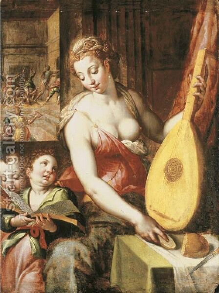 An Allegory of Music by (after) Jacob De Backer - Reproduction Oil Painting
