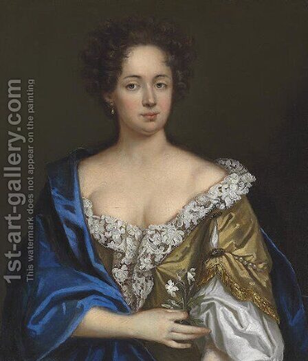 Portrait of a lady by (after) Jacob Ferdinand Voet - Reproduction Oil Painting