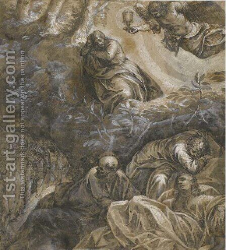Christ in the Garden of Gethsemane by (after) Jacopo Tintoretto (Robusti) - Reproduction Oil Painting