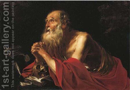 Saint Jerome by (after) Jacques Blanchard - Reproduction Oil Painting