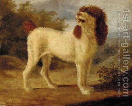 A water spaniel by (after) Jacques Laurent Agasse - Reproduction Oil Painting
