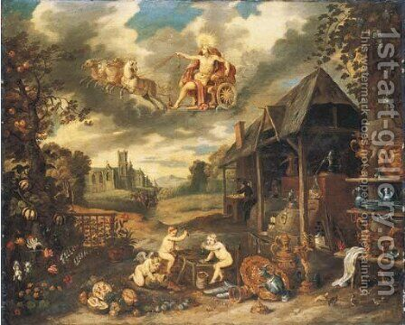 An Allegory of Peace by (after) Jan, The Younger Brueghel - Reproduction Oil Painting