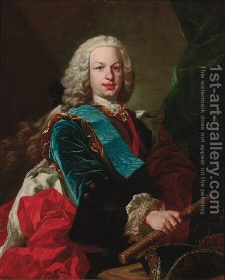 Portrait of a nobleman by (after) Jean Baptiste Van Loo - Reproduction Oil Painting