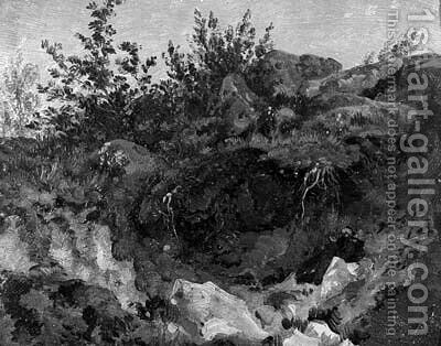 A grotto by (after) Jean-Charles Joseph Remond - Reproduction Oil Painting