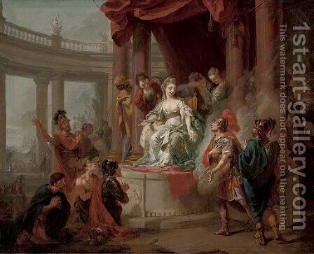 The Meeting of Dido and Aeneas by (after) Johann Heinrich The Elder Tischbein - Reproduction Oil Painting