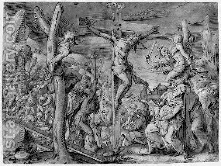The Crucifixion by (after) Johannes Kellerthaler II - Reproduction Oil Painting