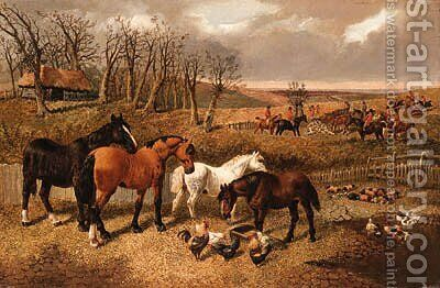 End of the Hunt by (after) John Frederick Jnr Herring - Reproduction Oil Painting