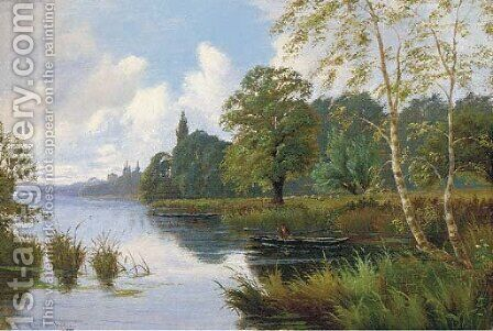 Punting by (after) John Horace Hooper - Reproduction Oil Painting