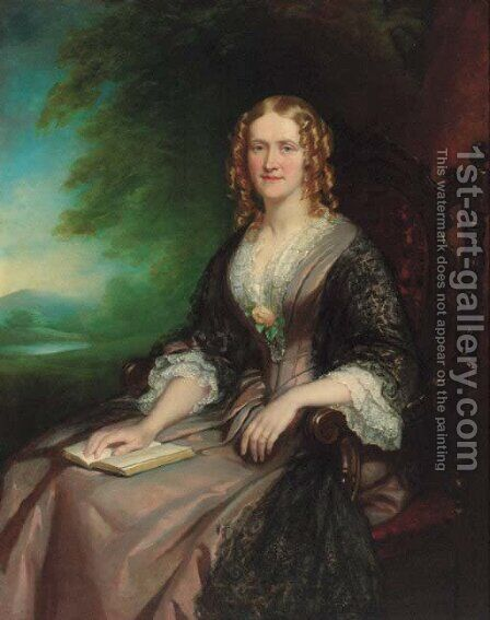 Portrait of Mrs Acton Tindal (1817-1879) by (after) John Lucas - Reproduction Oil Painting