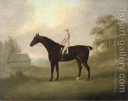 A racehorse with jockey up by (after) John Nost Sartorius - Reproduction Oil Painting