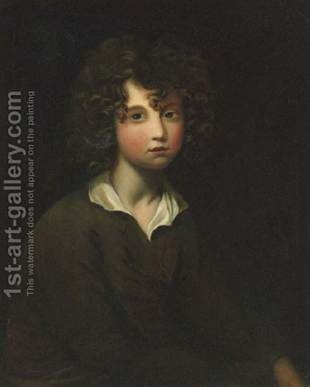 Portrait of a young boy by (after) John Rising - Reproduction Oil Painting