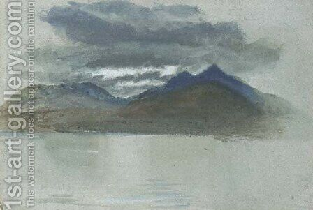 A lakeland landscape by (after) John Ruskin - Reproduction Oil Painting