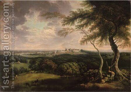 Windsor and Eaton from St. Leonards by (after) Joseph Constantine Stadler - Reproduction Oil Painting