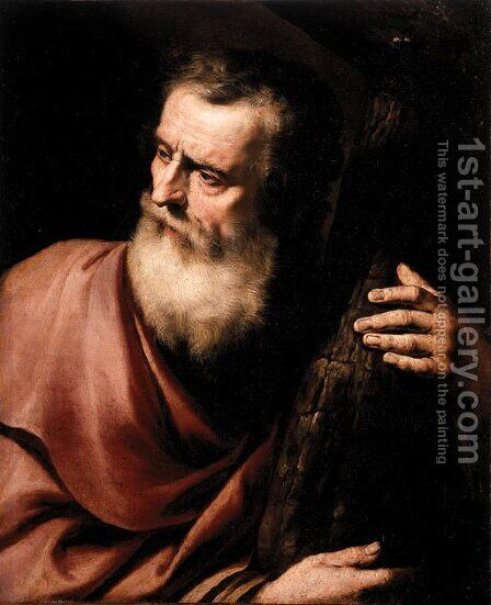 Saint Andrew by (after) Jusepe De Ribera - Reproduction Oil Painting