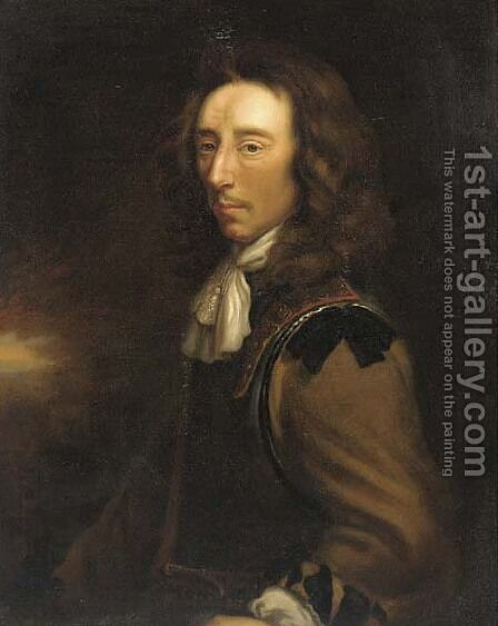 Portrait of Sir Algernon Sidney (1622-1683) by (after) Justus Van Egmont - Reproduction Oil Painting