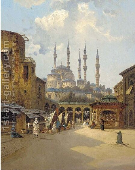 Beirut by (after) Karl Kauffman - Reproduction Oil Painting