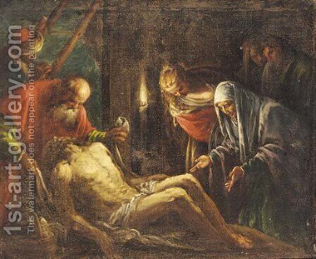 The Lamentation by (after) Leandro Bassano - Reproduction Oil Painting