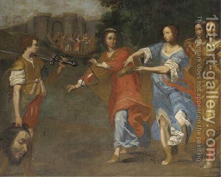 The Triumph of David by (after) Lorenzo Lippi - Reproduction Oil Painting