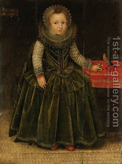 Portrait of a young Girl by (after) Marcus The Younger Gheeraerts - Reproduction Oil Painting