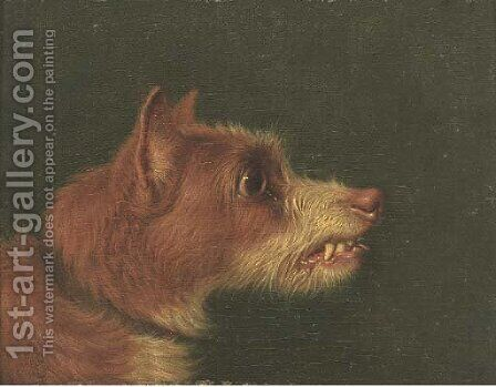 Snarling terriers by (after) Martin Theodore Ward - Reproduction Oil Painting