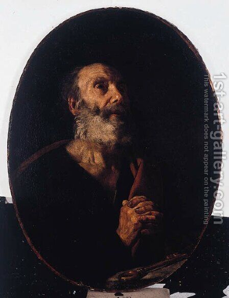 The penitent Saint Peter by (after) Matthias Stomer - Reproduction Oil Painting