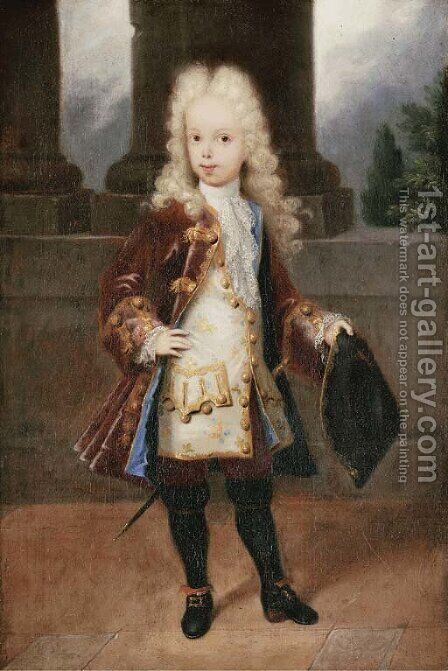 Portrait of a young gentleman by (after) Michel-Ange Houasse - Reproduction Oil Painting