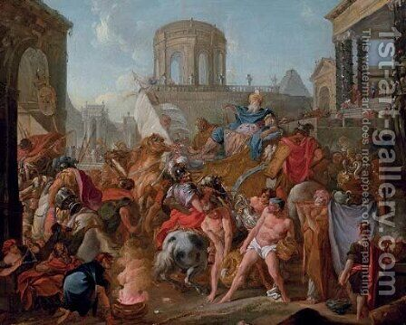 The Triumph of Scipio by (after) Michel-Francois Dandre-Bardon - Reproduction Oil Painting