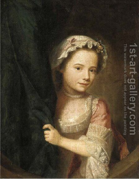 Portrait of a young girl by (after) Nathaniel Hone - Reproduction Oil Painting