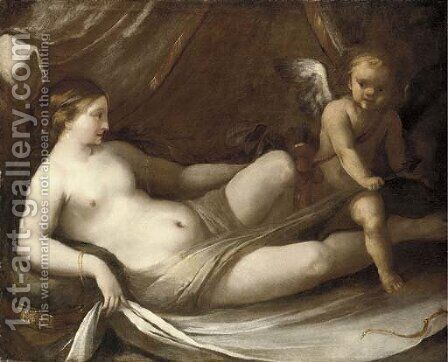 Venus with Cupid by (after) Niccolo Berrettoni - Reproduction Oil Painting