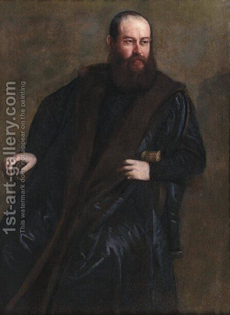 Portrait of a gentleman by (after) Paolo Veronese (Caliari) - Reproduction Oil Painting