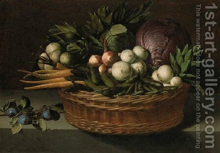 Onions by (after) Pierre Van BOUCLE (BOECKEL) - Reproduction Oil Painting