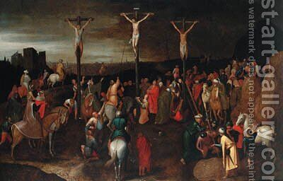 The Crucifixion by (after) Pieter Breughel II - Reproduction Oil Painting