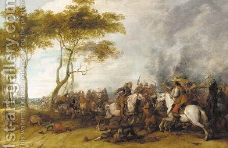 A cavalry skirmish by (after) Pieter Snayers - Reproduction Oil Painting