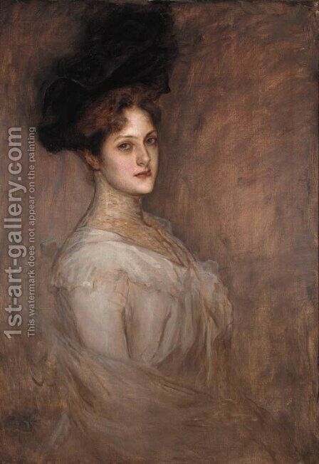 Portrait of a lady by (after) Richard Gerstl - Reproduction Oil Painting