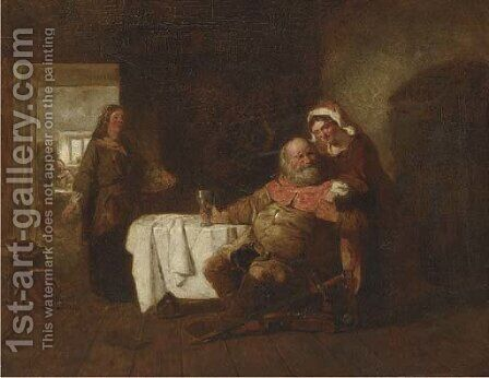 Falstaff in an inn by (after) Hillingford, Robert Alexander - Reproduction Oil Painting