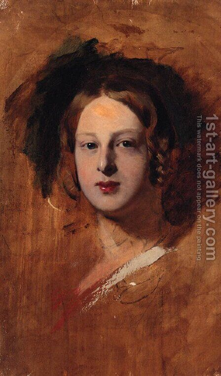 Portrait study of a Lady, throught to be Queen Victoria by (after) Sir George Hayter - Reproduction Oil Painting