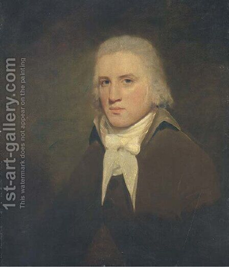 Portrait of Thomas Wise of Hillbank, Forfarshire by (after) Sir Henry Raeburn - Reproduction Oil Painting