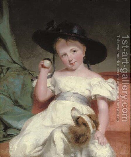 Portrait of a child by (after) Sir Martin Archer Shee - Reproduction Oil Painting