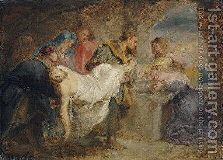 Christ carried to the Tomb by (after) Sir Peter Paul Rubens - Reproduction Oil Painting